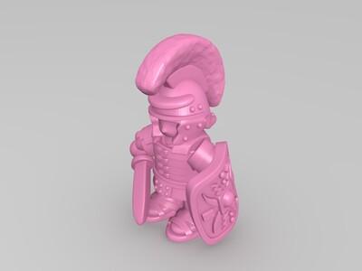 卡通罗马士兵和盾牌方阵-3d打印模型