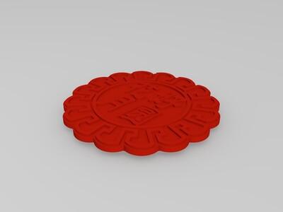月饼盒-3d打印模型