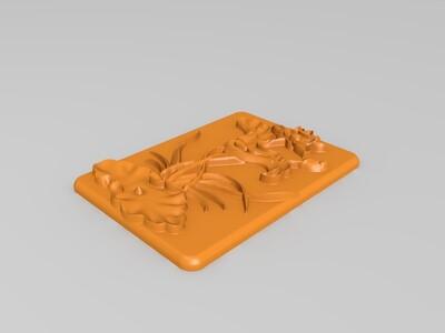 玉雕-荷花-3d打印模型