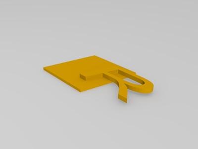 奥迪R标志-3d打印模型