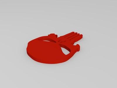 惩罚者扣件-3d打印模型