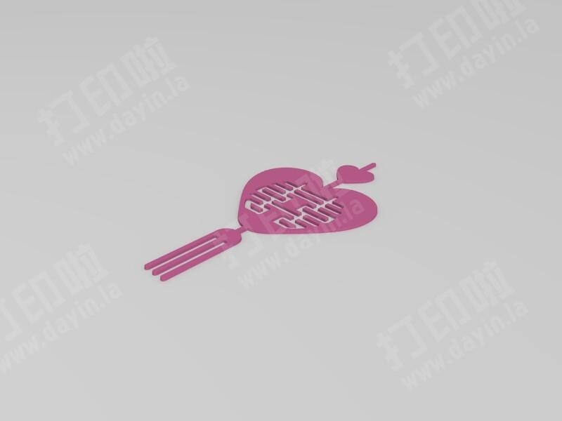 中国风剪纸艺术-打包五喜 3-3d打印模型