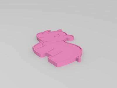 犀牛(卡通)-3d打印模型