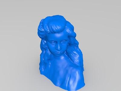 女孩-3d打印模型