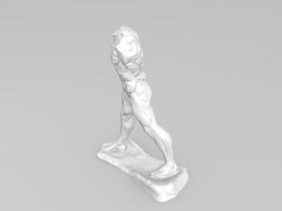 罗丹《行走的人》 -3d打印模型