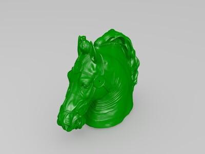 卢浮宫 马头-3d打印模型