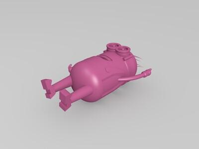 小黄人-3d打印模型