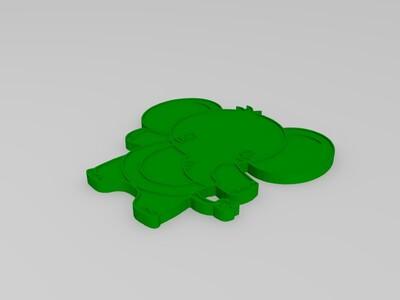 站立的小象-3d打印模型