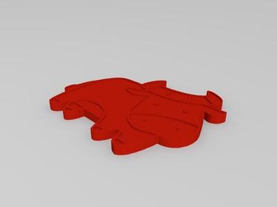 牛-3d打印模型
