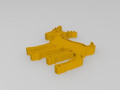 梅花鹿-3d打印模型