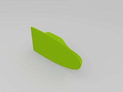 模型汽车鲨鱼鳍天线-3d打印模型