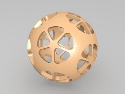 绣球-3d打印模型