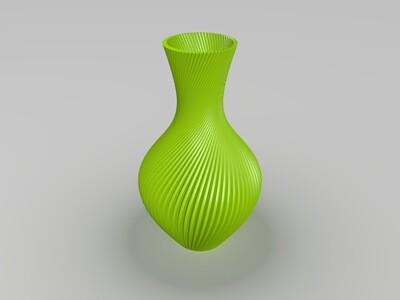 纹理空心花瓶1-3d打印模型