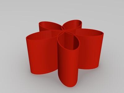五瓣花瓶-3d打印模型