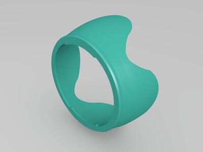 尼康遮光罩-3d打印模型