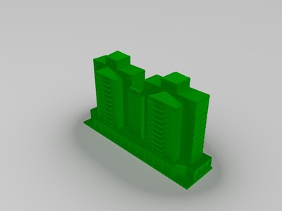 商住楼-3d打印模型