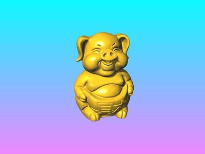 发财猪摆件 B-3d打印模型