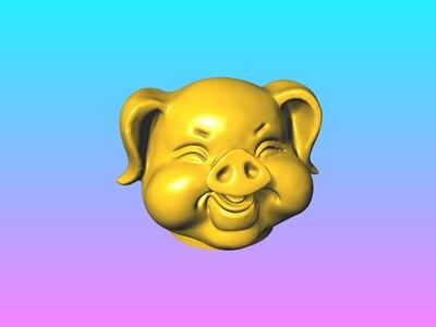 财猪存钱筒 3-3d打印模型