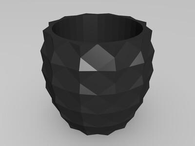 菠萝花盆-3d打印模型