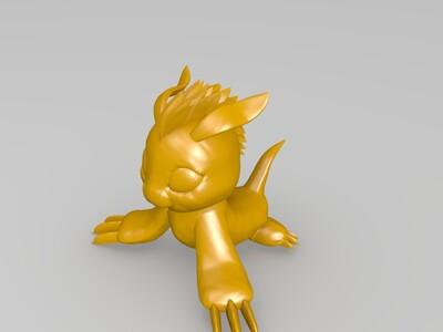 数码宝贝哥玛兽-3d打印模型