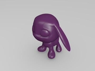 数码宝贝小狗兽-3d打印模型