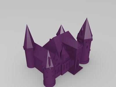 魔幻城堡-3d打印模型