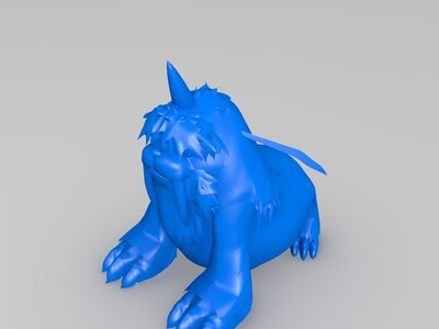 数码宝贝海狮兽-3d打印模型