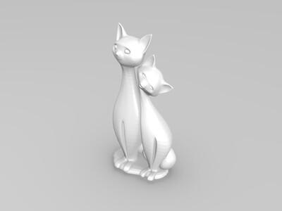 猫1-3d打印模型