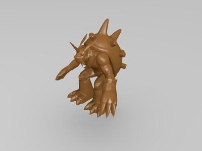 数码宝贝祖顿兽-3d打印模型