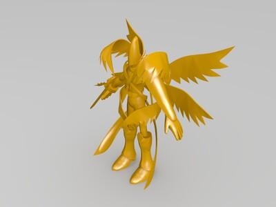 数码宝贝神圣天使兽-3d打印模型