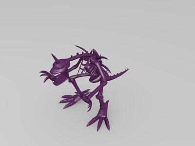 数码宝贝丧尸暴龙兽-3d打印模型