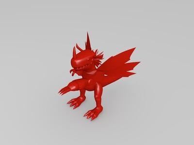 数码宝贝机械暴龙兽-3d打印模型