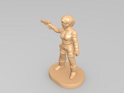 人物女孩3-3d打印模型