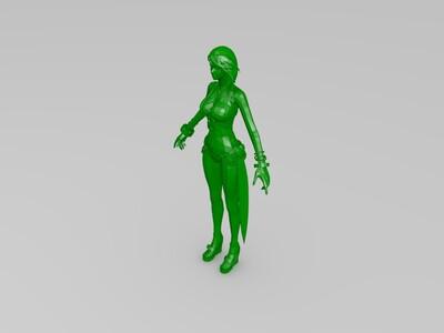 美女-泳装-3d打印模型