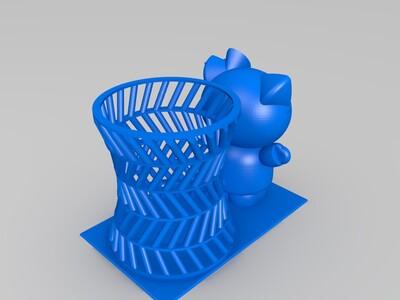 笔筒2-3d打印模型