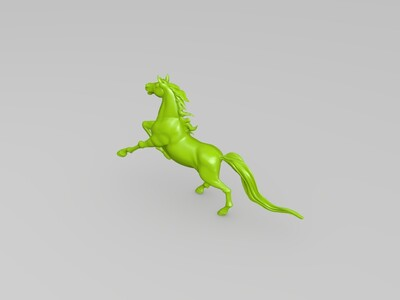 高精度超写实马-3d打印模型