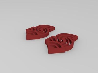 箭状耳坠-3d打印模型
