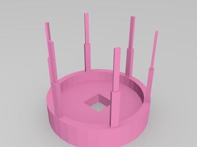 信号基站铁塔-分体组合-3d打印模型