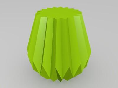 折纸花盆-3d打印模型