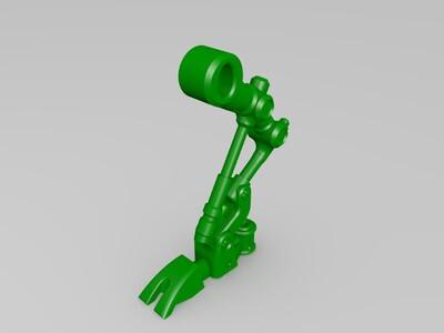 机器人笔筒-3d打印模型