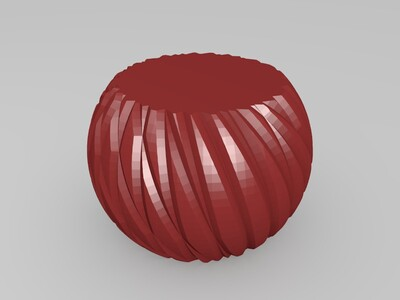 条纹花瓶集合-3d打印模型