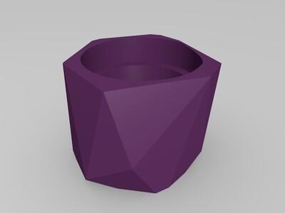 扁平化花盆-3d打印模型