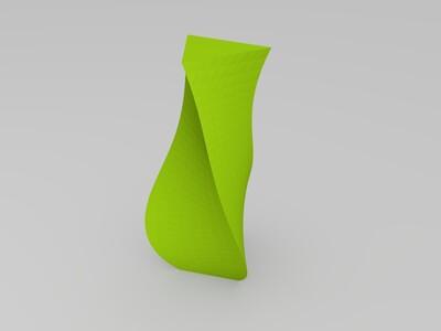 斜曲花瓶-3d打印模型