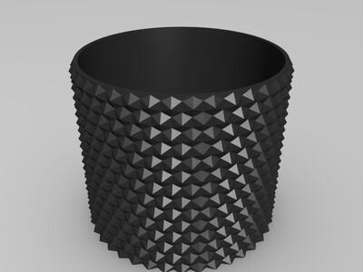 圆花盆-3d打印模型