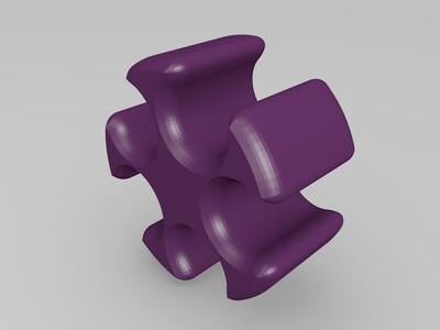 雪花数据线整理夹-3d打印模型