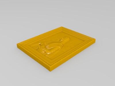 蒙娜丽莎-3d打印模型