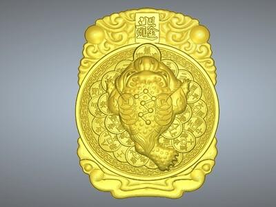 经典玉雕系列-金蟾招财-3d打印模型