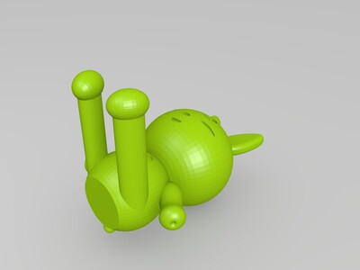 爱心小兔手机支架-3d打印模型