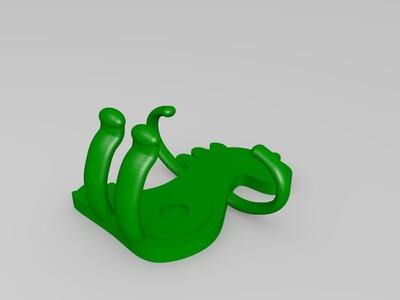 车载手机支架——恐龙-3d打印模型