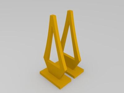 重庆千厮门大桥 low ploy-3d打印模型